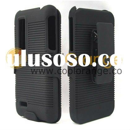 Rubberized Holster Combo for LG Optimus 3D P920 with Belt Clip Case