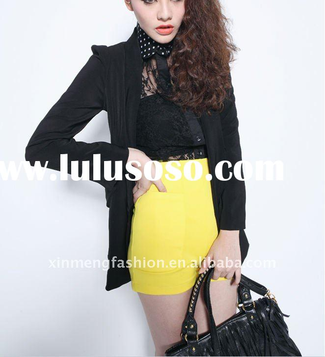 lady autumn new style black jacket
