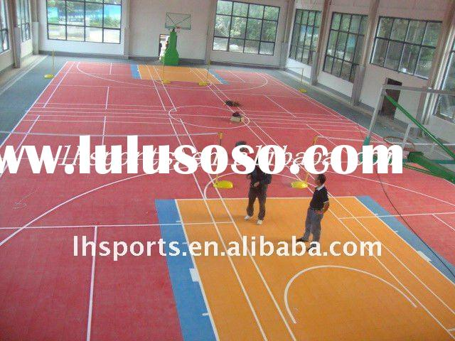 2011 Best Sales And High Quality Suspended Interlocking Plastic Outdoor And Indoor Basketball Court