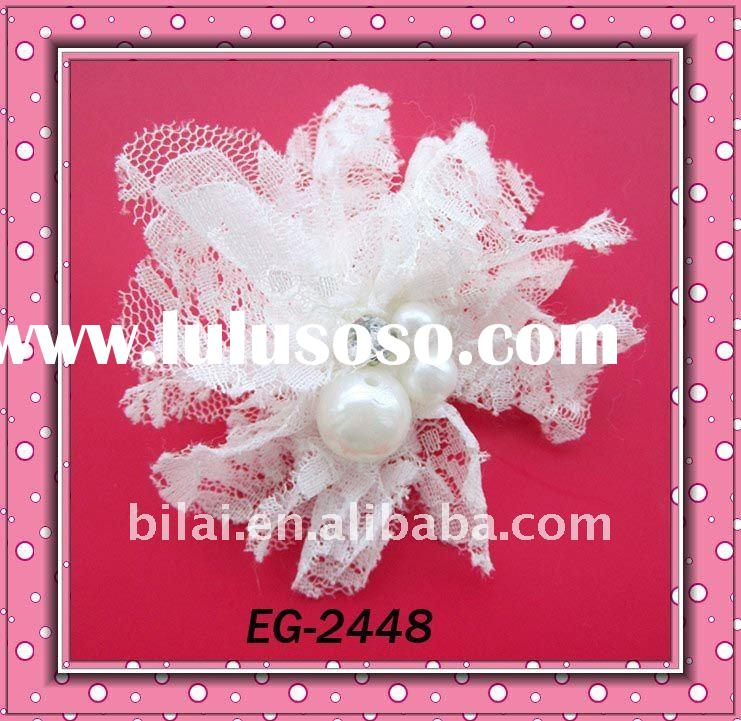 designer fashion bridal lace pearl flower hair clips hair accessories headbands/brooch/hairpins  EG-