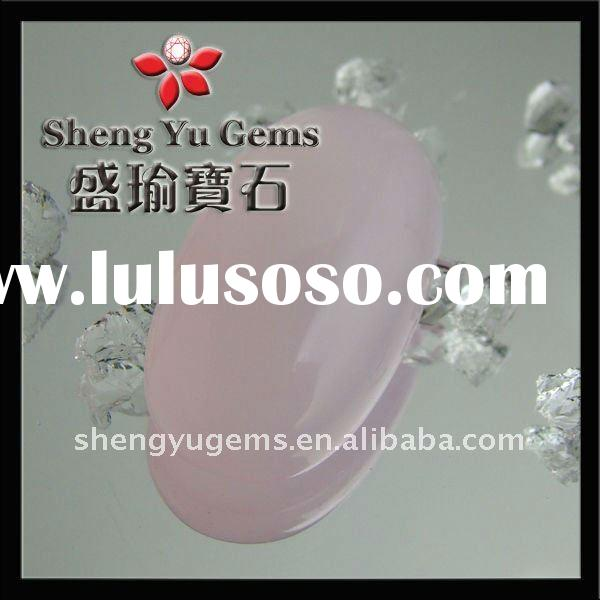 oval-shaped pink glass gemstone GLOV0004 #BW409