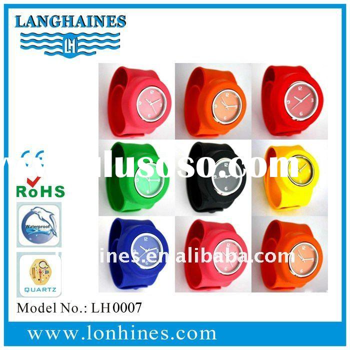 silicone slap watch water resistant with removeable face LH0007
