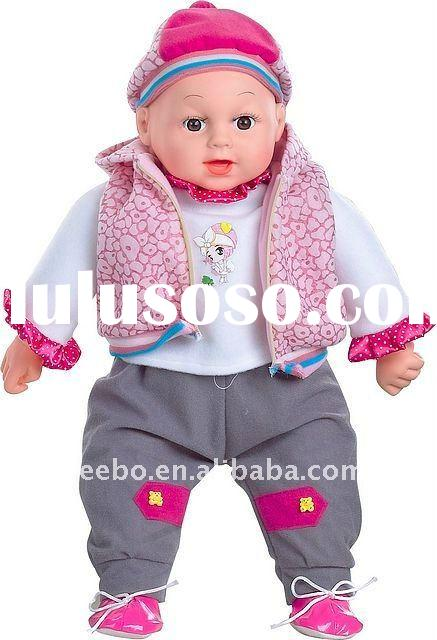 20 Inch Soft Plastic Baby Doll with Six Sounds