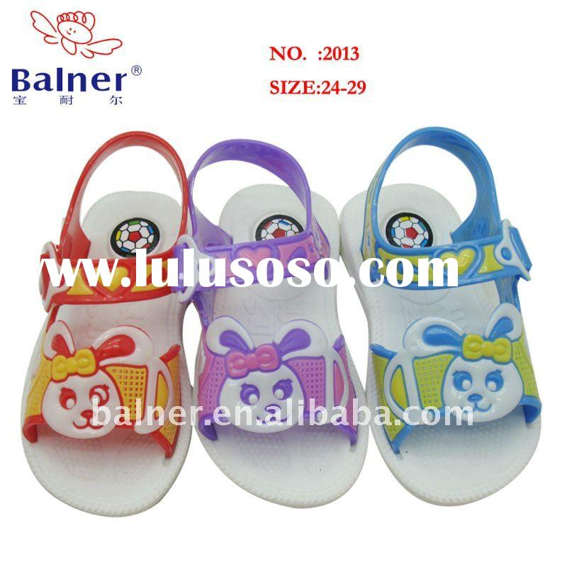 PVC jelly kid shoe crystal shoes