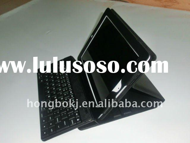 High quality Foldable bluetooth keyboard leather case for Ipad 2