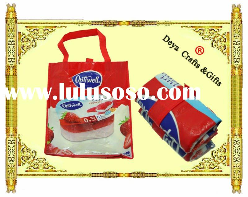 High quality film-covered foldable promotional nonwoven shopping bag