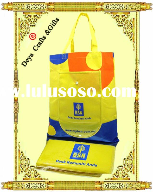 High quality foldable Logo-printing nonwoven shopping bag