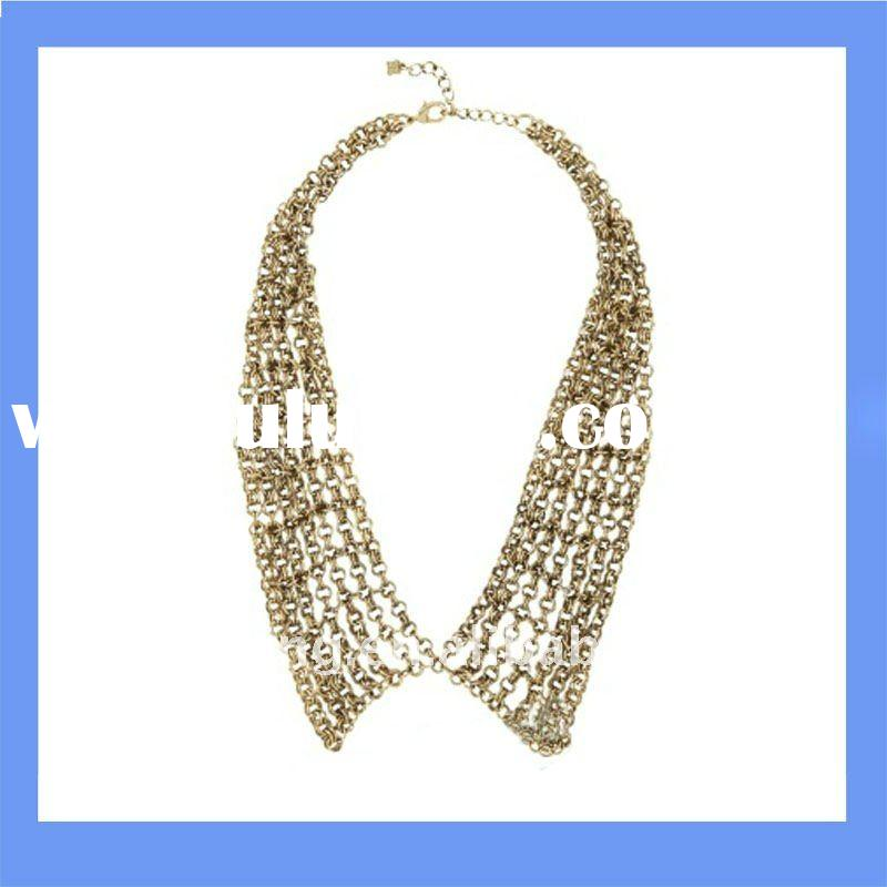 metal collar necklace jewelry and most popular custom necklace and big fashion jewelry necklaces