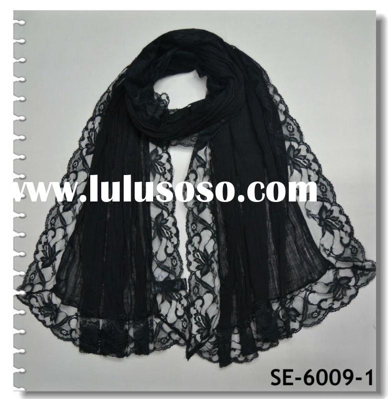 2012 Newest Long Lace Scarf(SE-6009-1)