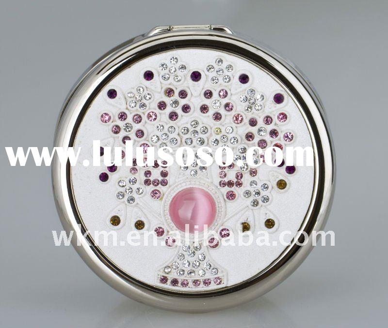 Diamond Round Folded high-end cosmetic mirror