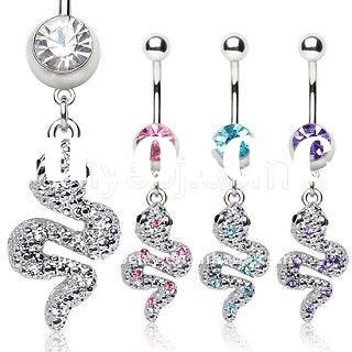 Jewelled Stone Belly Navel  jewelry ,navel belly ring,piercing jewelry