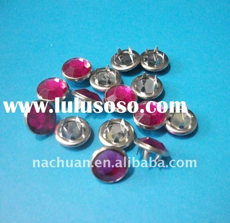 10MM Fashion Stone Snap Button Acrylic Stone Prong Snap Button (NC-PS0041)