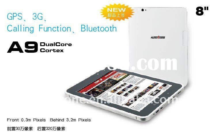 "8"" 3G,GPS,Bluetooth phone call android 2.3 tablet PC"