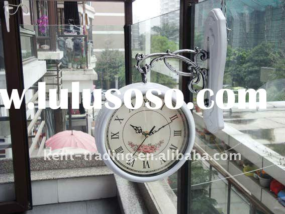 Double sides wall clock two sides clock and any logo will be ok