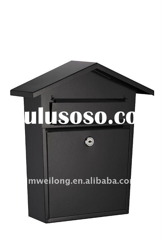 Metal mail box in black,red,blue,grey...