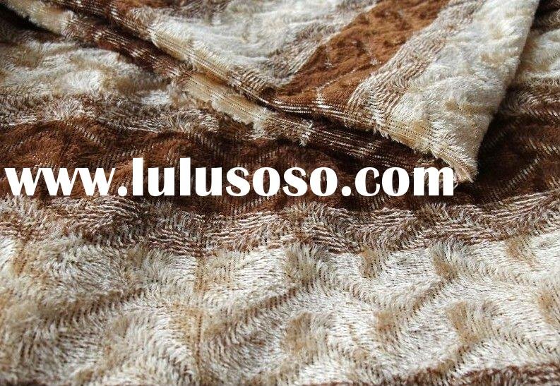 cation jacquard velvet/ tricot fabric for curtain and sofa