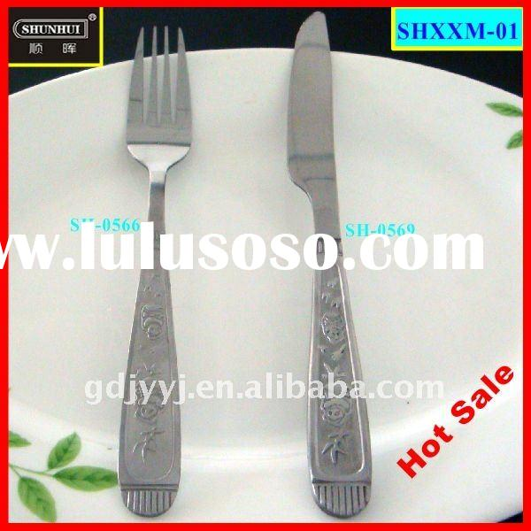 2-piece in Panda pattern stainless steel cutlery set with a fork and a knife