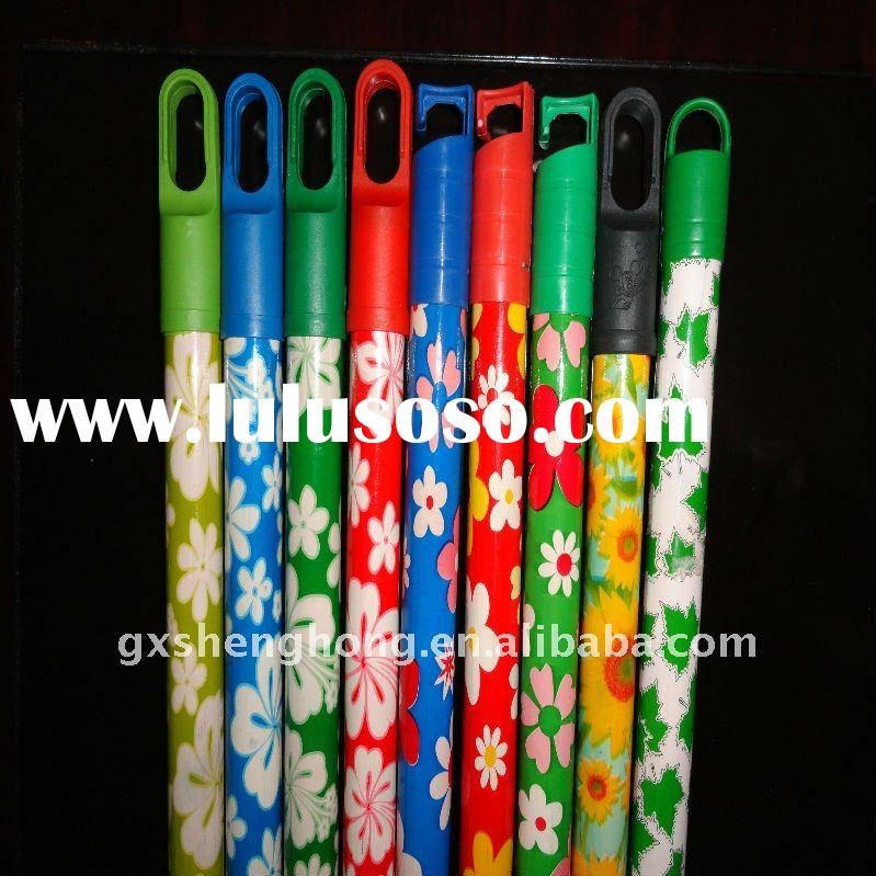 Cleaning PVC coated wooden broom handle
