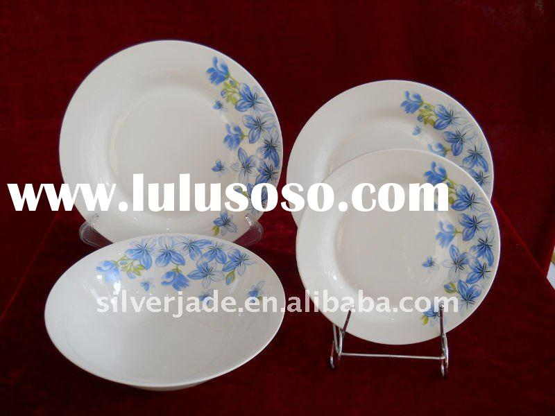 porcelain dinnerware set with flower decal
