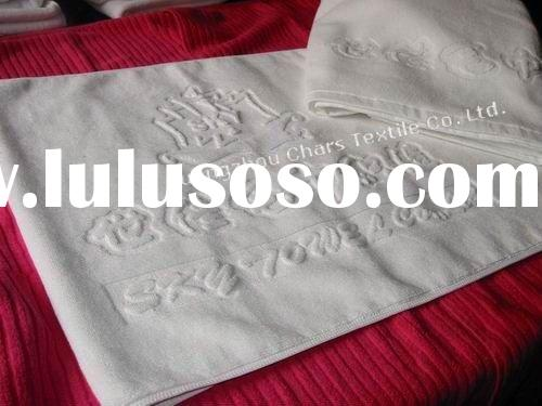 100% Cotton Custom Logo Made Thick Hotel Bath Mat