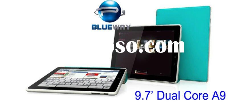 9.7 inch Dual core A9 MID Built-in 3G+Bluetooth Multiple touch capacitive panel