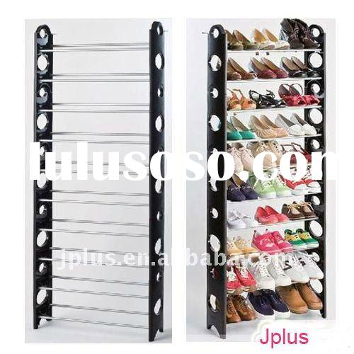 DIY 10 Layer Folding Shoe Rack With Cover