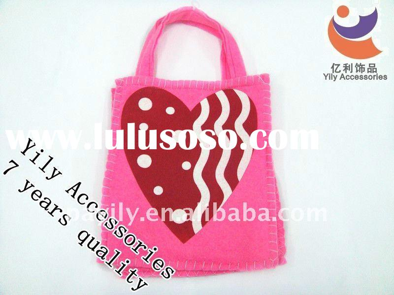 First love pink department and Red peach heart Non-woven Valentine's day bag