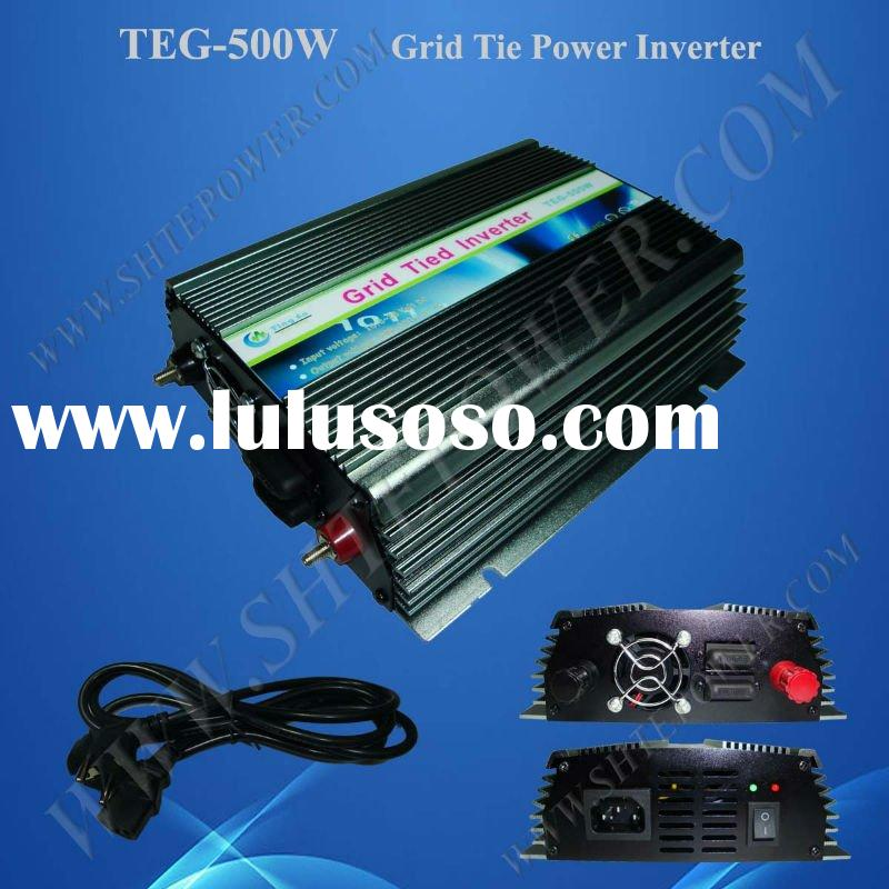 Grid connected solar power inverter 500w 12vdc 24vdc input and 220vac/ 110vac/ 230vac output