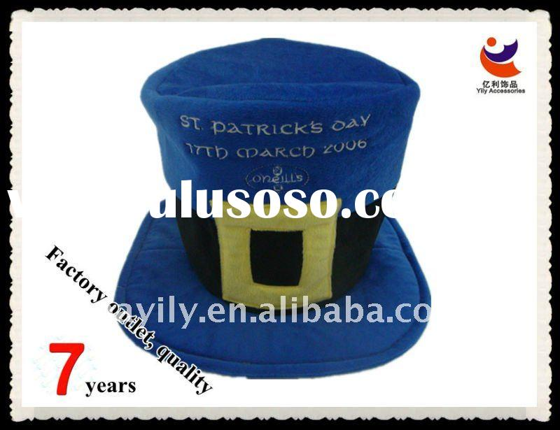 High quality quadrilateral blue Non-woven Carnival hat( KHM 02)