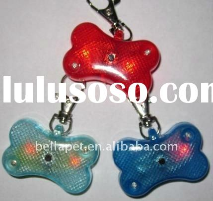 LED Flashing Pet Safety Light Tag Collar Dog Bone
