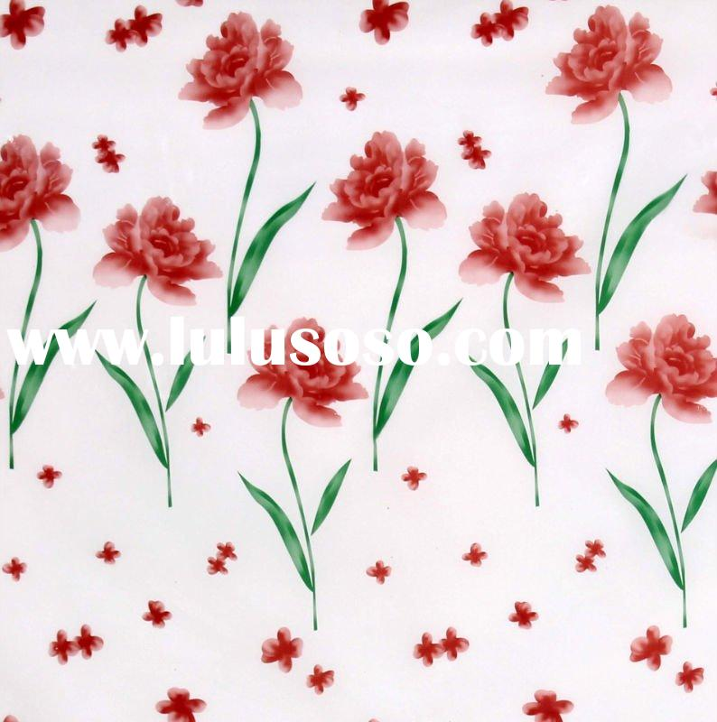 PVC table cloth/printed pvc table cloth/clear plastic pvc tablecloth