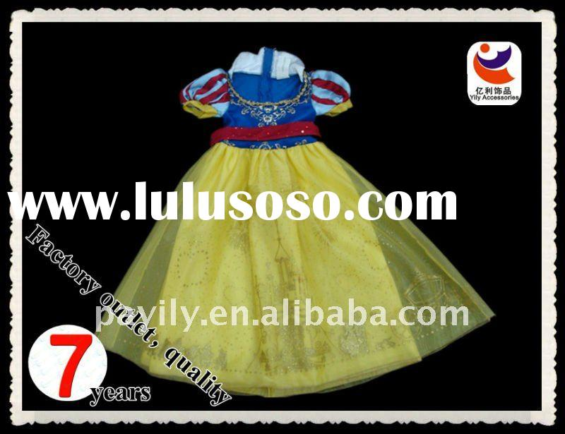Princess Carnival costumes(Snow White yellow gauze skirt of a fairy tale)