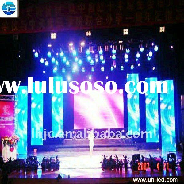 UH China supplier offer vivid image high quality curtain led video display for stage show