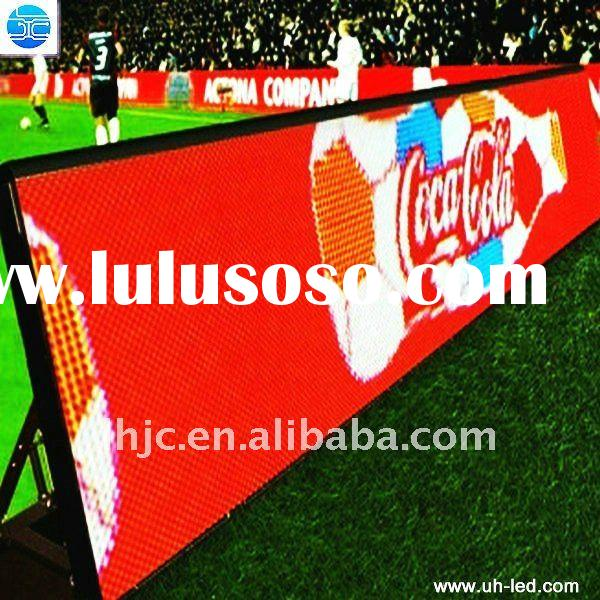 UH Top quality high resolution led display screen for football stadium in China
