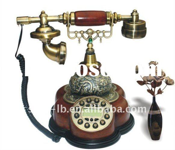 classic wooden antique phone,decorative antique phone