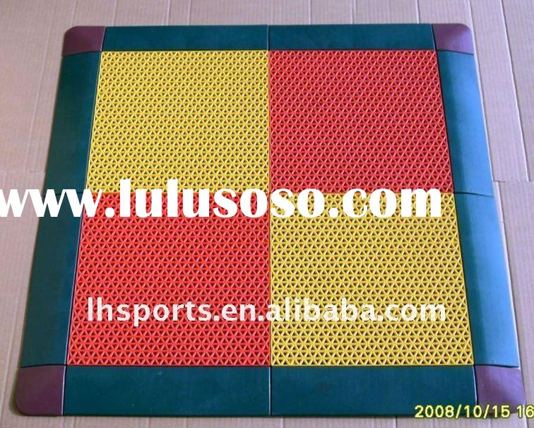 high cost performance 100% recyclable interlocking sports flooring hot sale 2011