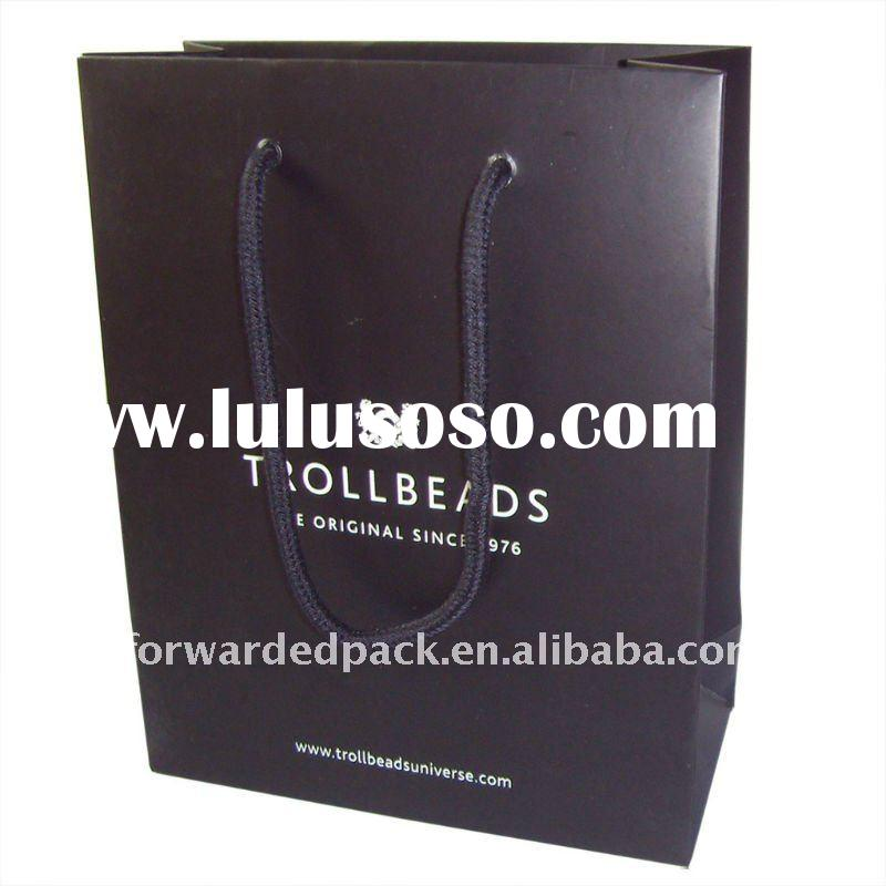 printed black paper bag for shopping