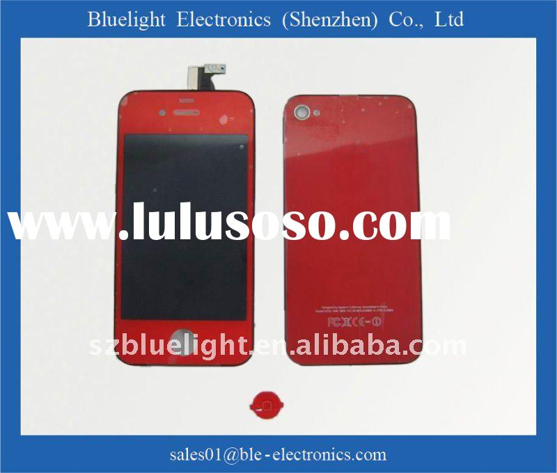 touch screen LCD complete+ back cover  for iPhone 4