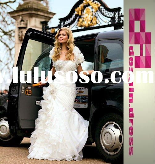 2011 White sweetheart tulle wedding dress with crystal DC-HS00120
