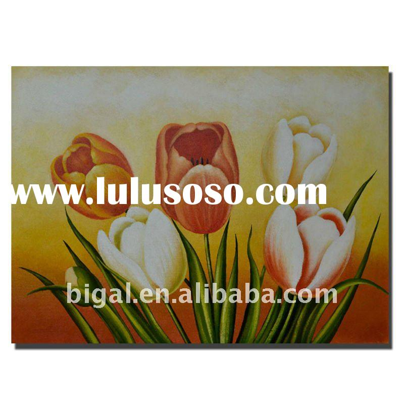 "24""x36"" flower canvas oil painting"