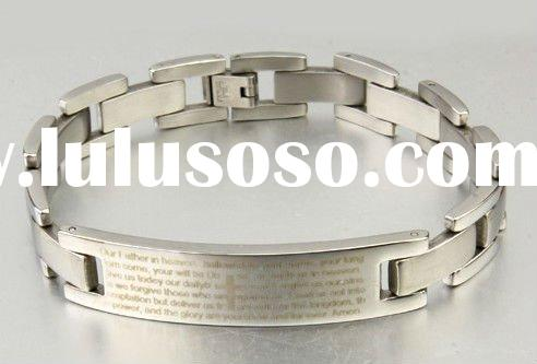 Bible titanium bracelet men's fashion  jewelry bracelet