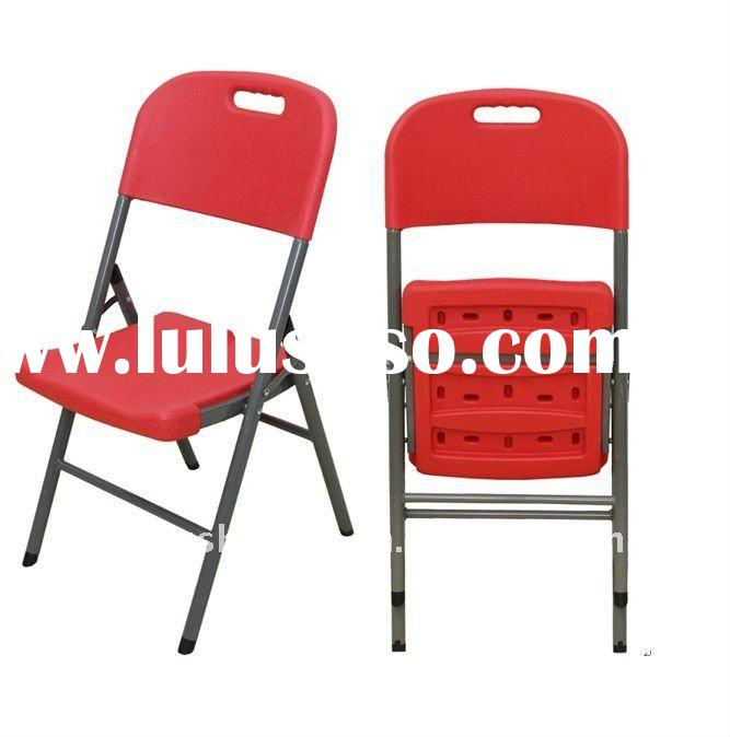 Colorful plastic folding dining chair