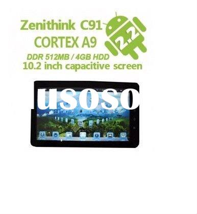 Cortex A9 Capacitive Tablet - 10.2 Inch Android 2.3 WiFi 3G Camera HDMI RJ45 (C91)