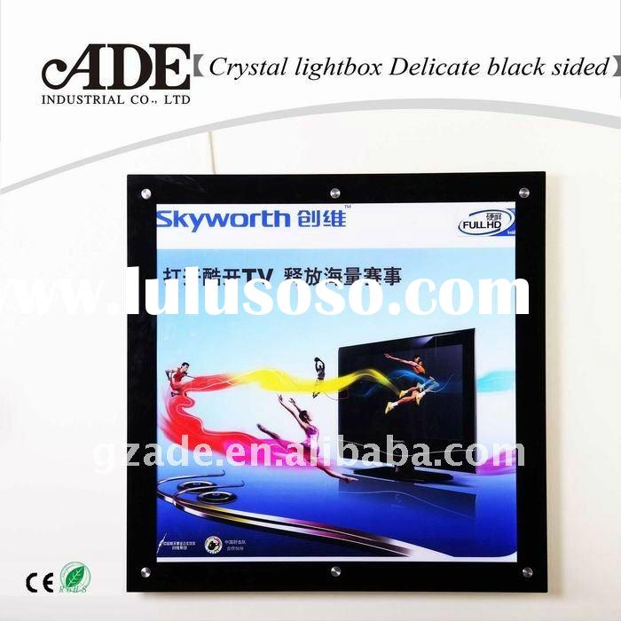 Delicate black sides LED crystal light box