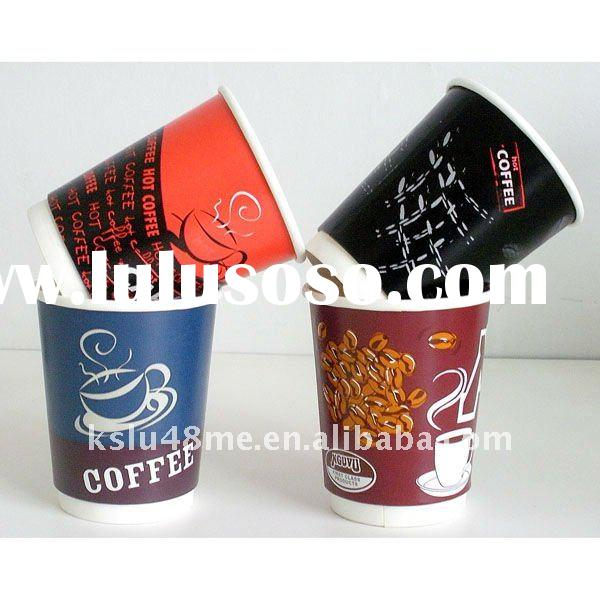 Double wall paper cup with lid 8oz