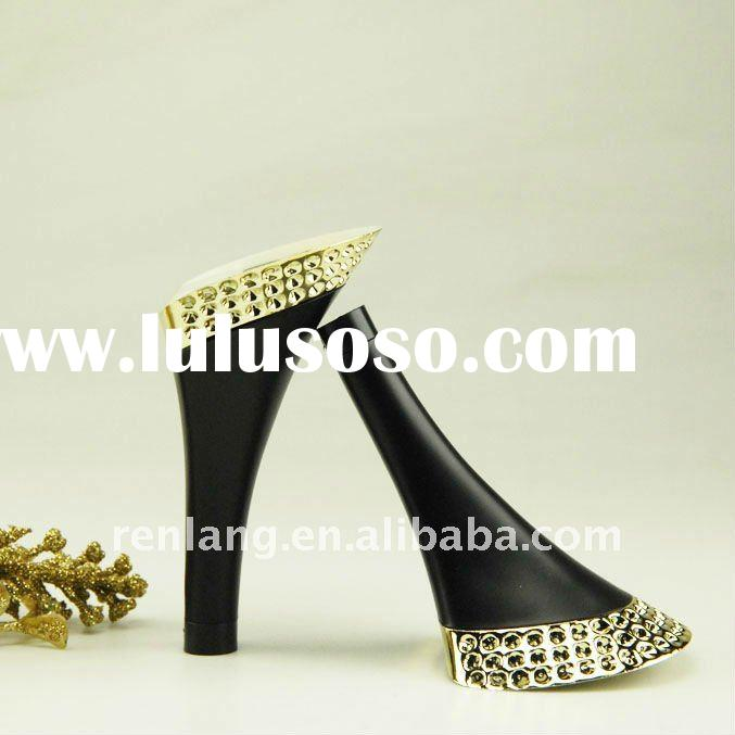High quality electroplating gold Painting diamond high heel DE05668