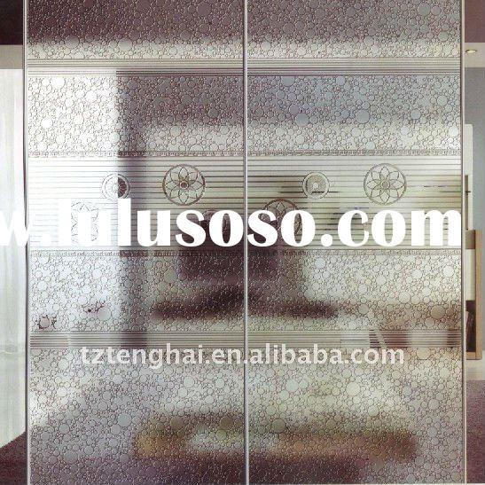 Machine engraving glass for partition wall