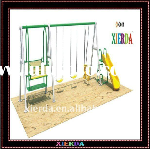 Outdoor Hot Childrens Swings and Slide Q001