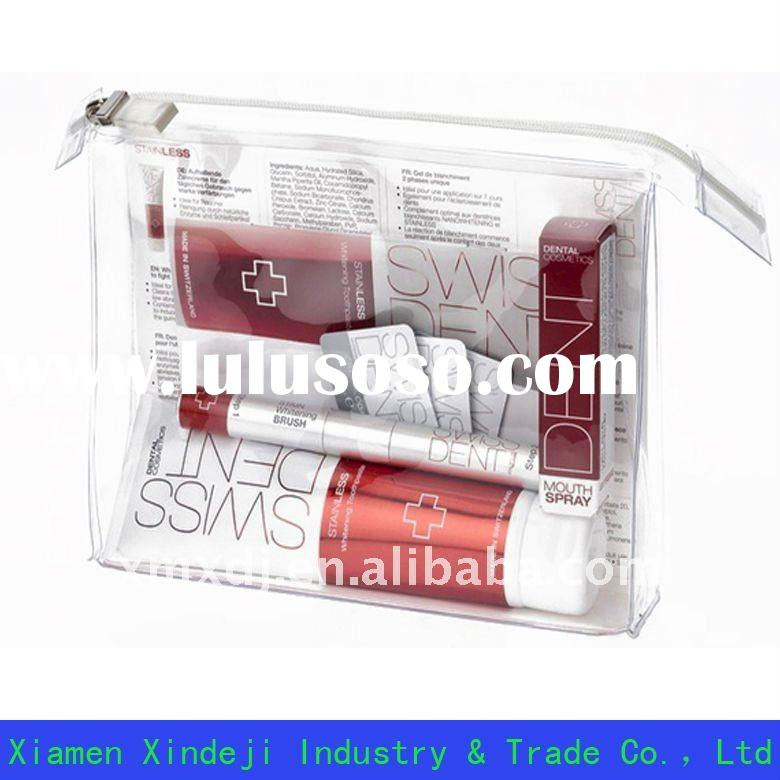 Super Clear PVC cosmetic bag with zipper closure XDJ-Z034