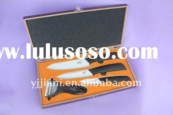 ceramic knife set with TPR handle